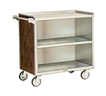Lakeside 644 LMAP Enclosed Bus Cart w/ 3-Shelves, 500-lb Capacity, Light Maple