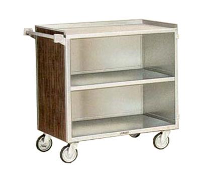 "Lakeside 644 LMAP 39.25""L Metal Bus Cart w/ (3) Levels, Shelves, Maple"