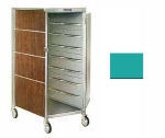 Lakeside 650 TEAL 16-Tray Ambient Meal Delivery Cart