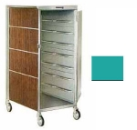 Lakeside 652 TEAL 20-Tray Ambient Meal Delivery Cart