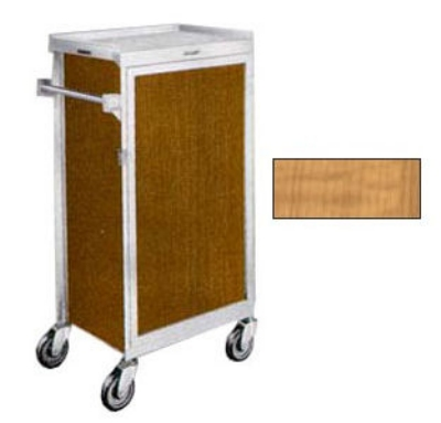 "Lakeside 654 LMAP Tray Delivery Cart w/ (6) 16 x 22"" & Removable Door, Light Maple"