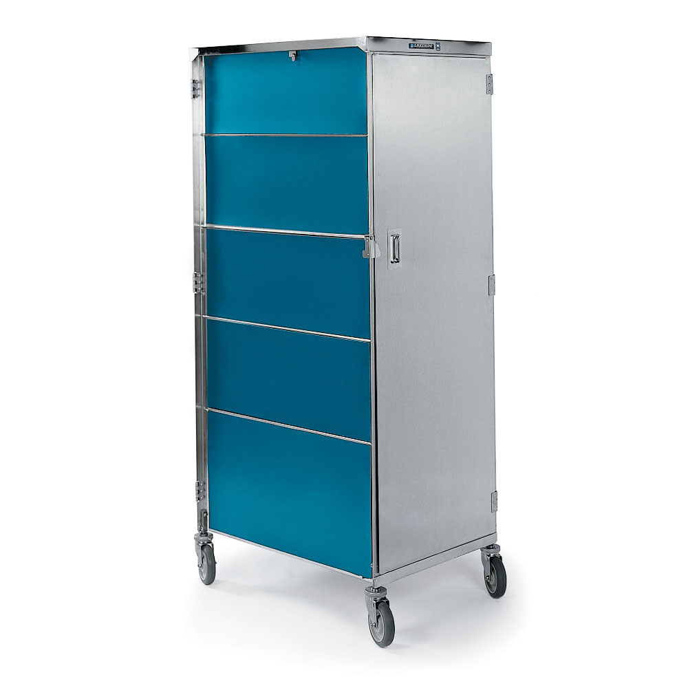 Lakeside 657 TEAL 20-Tray Ambient Meal Delivery Cart