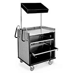 Lakeside 660 BLK Compact Mart Cart w/ Overshelf & (1) 70-lb Shelf, Black