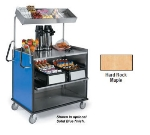 Lakeside 660 HRMAP Compact Mart Cart w/ Overshelf & (1) 70-lb Shelf, Hard Rock Maple