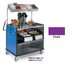 "Lakeside 660 PUR Food Cart w/ Overshelf, 49""L x 28.25""W x 72.15""H, Purple"