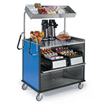 "Lakeside 660 RBLU Food Cart w/ Overshelf, 49""L x 28.25""W x 72.15""H, Royal Blue"