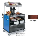 "Lakeside 660 Food Cart w/ Overshelf, 49""L x 28.25""W x 72.15""H, Red Maple"