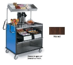 """Lakeside 660 WAL Food Cart w/ Overshelf, 49""""L x 28.25""""W x 72.15""""H, Walnut"""