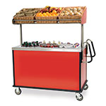 Lakeside 668 Breakfast Cart w/ Adjustable Overhead Shelf, 3-Baskets