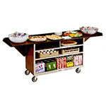 "Lakeside 676 61.75"" Stainless Beverage Service Cart, 24""D x 38.31""H"