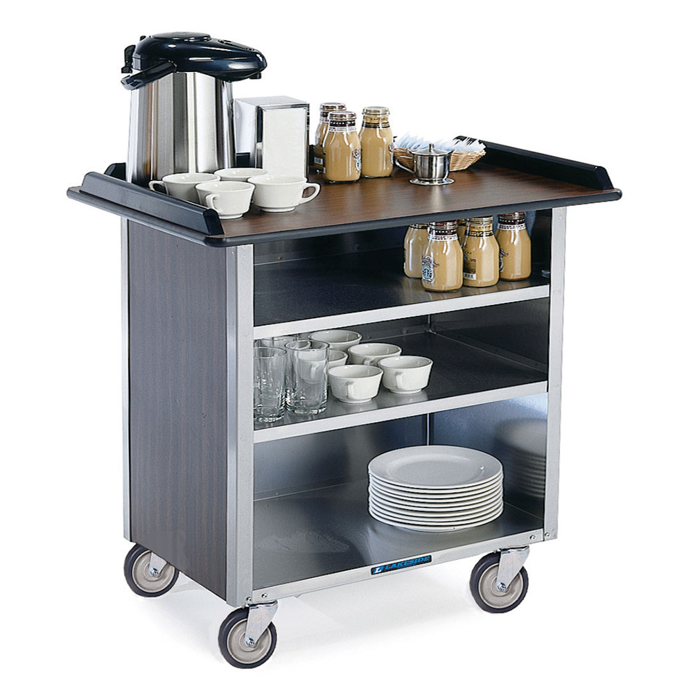 """Lakeside 678 40.75"""" Stainless Beverage Service Cart, 24""""D x 38.31""""H"""