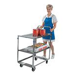 Lakeside 6820 2-Level Stainless Utility Cart w/ 500-lb Capacity, Raised Ledges