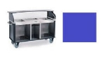 "Lakeside 682-20 RBLU Kiosk-Type Food Cart w/ Enclosed Cabinet, 77.25""L x 28.25""W x 52.5""H, Royal Blue"