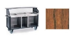 "Lakeside 682-20 VCHER Kiosk-Type Food Cart w/ Enclosed Cabinet, 77.25""L x 28.25""W x 52.5""H, Victorian Cherry"