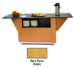 "Lakeside 6850 HRMAP 87.25"" Breakout Dining Station w/ Drop Leaf, Hard Rock Maple"