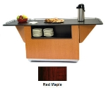 "Lakeside 6850 RMAP 87.25"" Breakout Dining Station w/ 2-Compartment, Red Maple"
