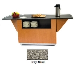 "Lakeside 6855 GRSAN 99"" Breakout Dining Station w/ 2-Compartment, Gray Sand"