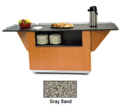 Lakeside 6855 GRSAN 99-in Breakout Dining Station w/ 2-Compartment, Gray Sand