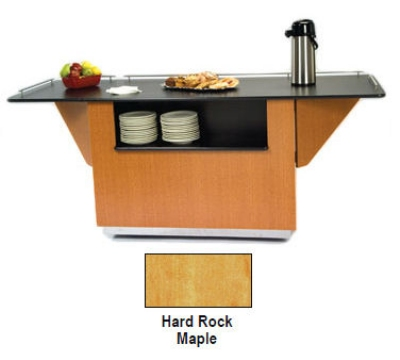 6855 HRMAP 99-in Breakout Dining Station w/ 2-Compartment, Hard Rock Maple