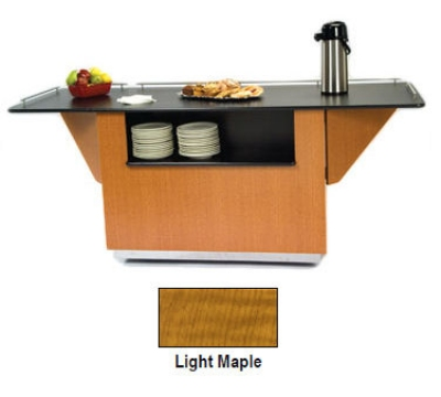 Lakeside 6855 LMAP 99-in Breakout Dining Station w/ 2-Compartment, Light Maple