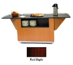 "Lakeside 6855 RMAP 99"" Breakout Dining Station w/ 2-Compartment, Red Maple"