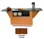 "Lakeside 6855 VCHER 99"" Breakout Dining Station w/ 2-Compartment, Victorian Cherry"