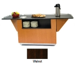 Lakeside 6855 WAL 99-in Breakout Dining Station w/ Drop Leaf & 2-Compartment, Walnut