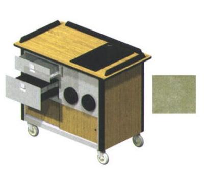 "Lakeside 690-10 BEGSU Food Cart w/ Drawers, 44.5""L x 24.5""W x 37.75""H, Beige"