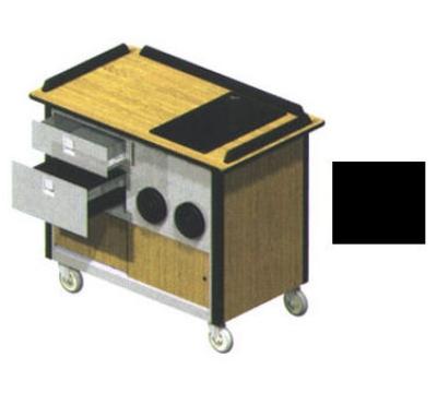 "Lakeside 690-10 BLK Food Cart w/ Drawers, 44.5""L x 24.5""W x 37.75""H, Black"