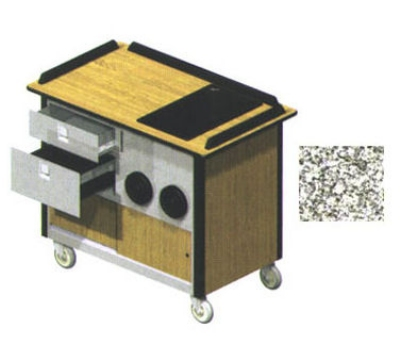 "Lakeside 690-10 GRSAN Food Cart w/ Drawers, 44.5""L x 24.5""W x 37.75""H, Gray"