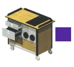 "Lakeside 690-10 PUR Food Cart w/ Drawers, 44.5""L x 24.5""W x 37.75""H, Purple"