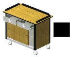 "Lakeside 690-20 BLK Food Cart w/ Drawers, 44.5""L x 24.5""W x 37.75""H, Black"