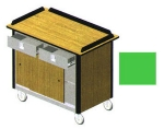 "Lakeside 690-20 GRN Food Cart w/ Drawers, 44.5""L x 24.5""W x 37.75""H, Green"
