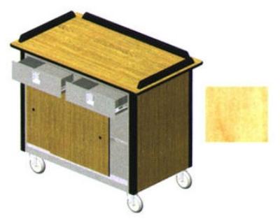 "Lakeside 690-20 HRMAP Food Cart w/ Drawers, 44.5""L x 24.5""W x 37.75""H, Hard Rock Maple"