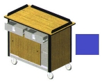 "Lakeside 690-20 RBLU Food Cart w/ Drawers, 44.5""L x 24.5""W x 37.75""H, Royal Blue"