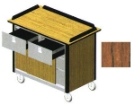 "Lakeside 690-20 VCHER Food Cart w/ Drawers, 44.5""L x 24.5""W x 37.75""H, Victorian Cherry"