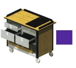 "Lakeside 690-30 PUR Food Cart w/ Drawers, 44.5""L x 24.5""W x 37.75""H, Purple"