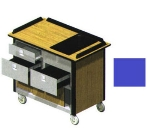 "Lakeside 690-30 RBLU Food Cart w/ Drawers, 44.5""L x 24.5""W x 37.75""H, Royal Blue"