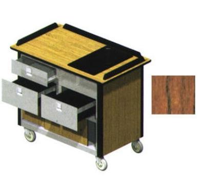 "Lakeside 690-30 VCHER Food Cart w/ Drawers, 44.5""L x 24.5""W x 37.75""H, Victorian Cherry"