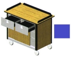 "Lakeside 690-40 RBLU Food Cart w/ Drawers, 44.5""L x 24.5""W x 37.75""H, Royal Blue"