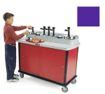Lakeside 706-40 PUR Pump Style Condiment Cart w/ (7) Pumps, Purple