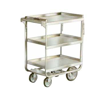 Lakeside 711 3-Level Stainless Utility Cart w/ 700-lb Capacity, Raised Ledges