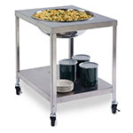 "Lakeside 712 Mobile Bowl Stand w/ 29-5/8"" Top Cutout & Undershelf, Stainless"
