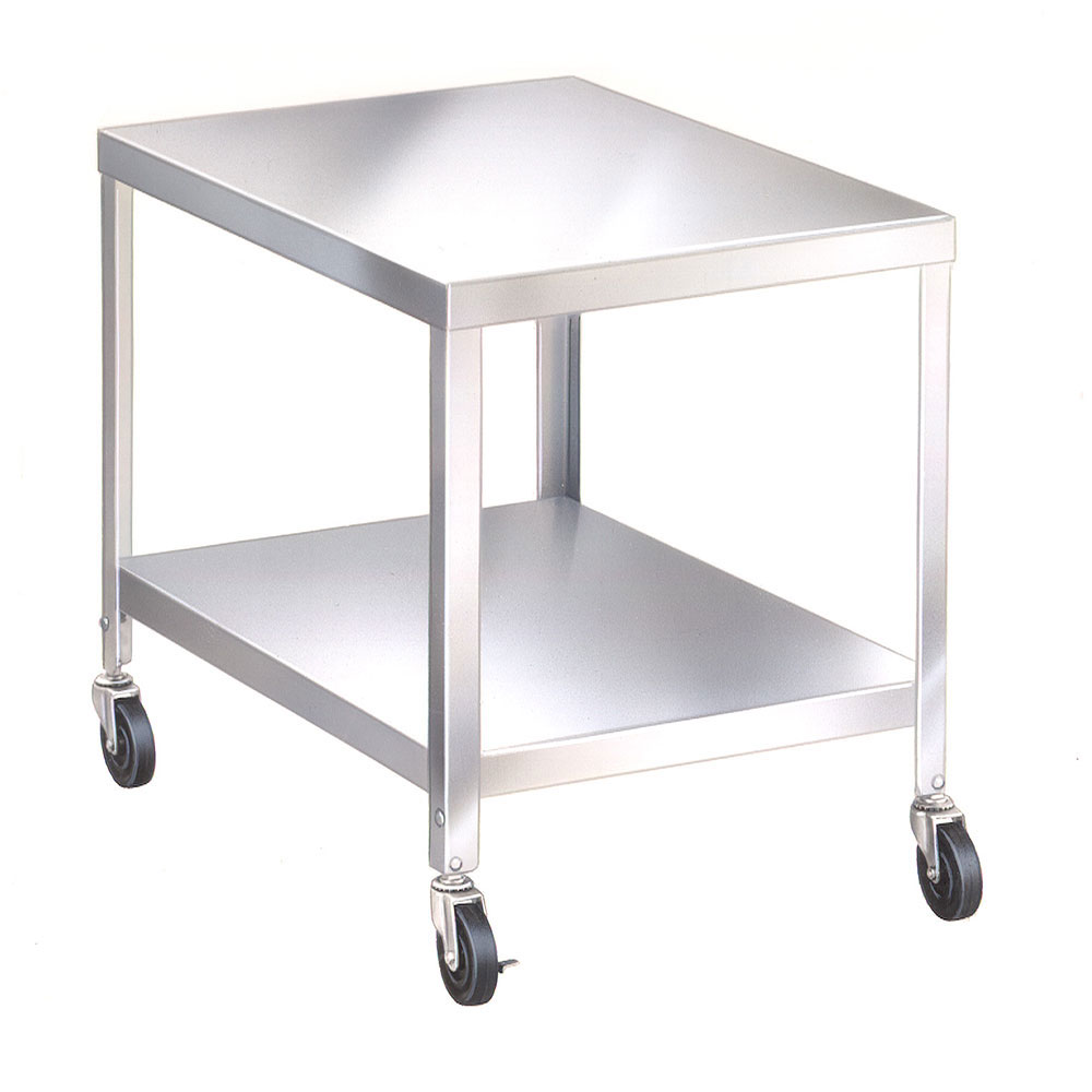 "Lakeside 715 21.25"" Mixer Table w/ All Stainless Undershelf Base, Mobile, 25.25""D"