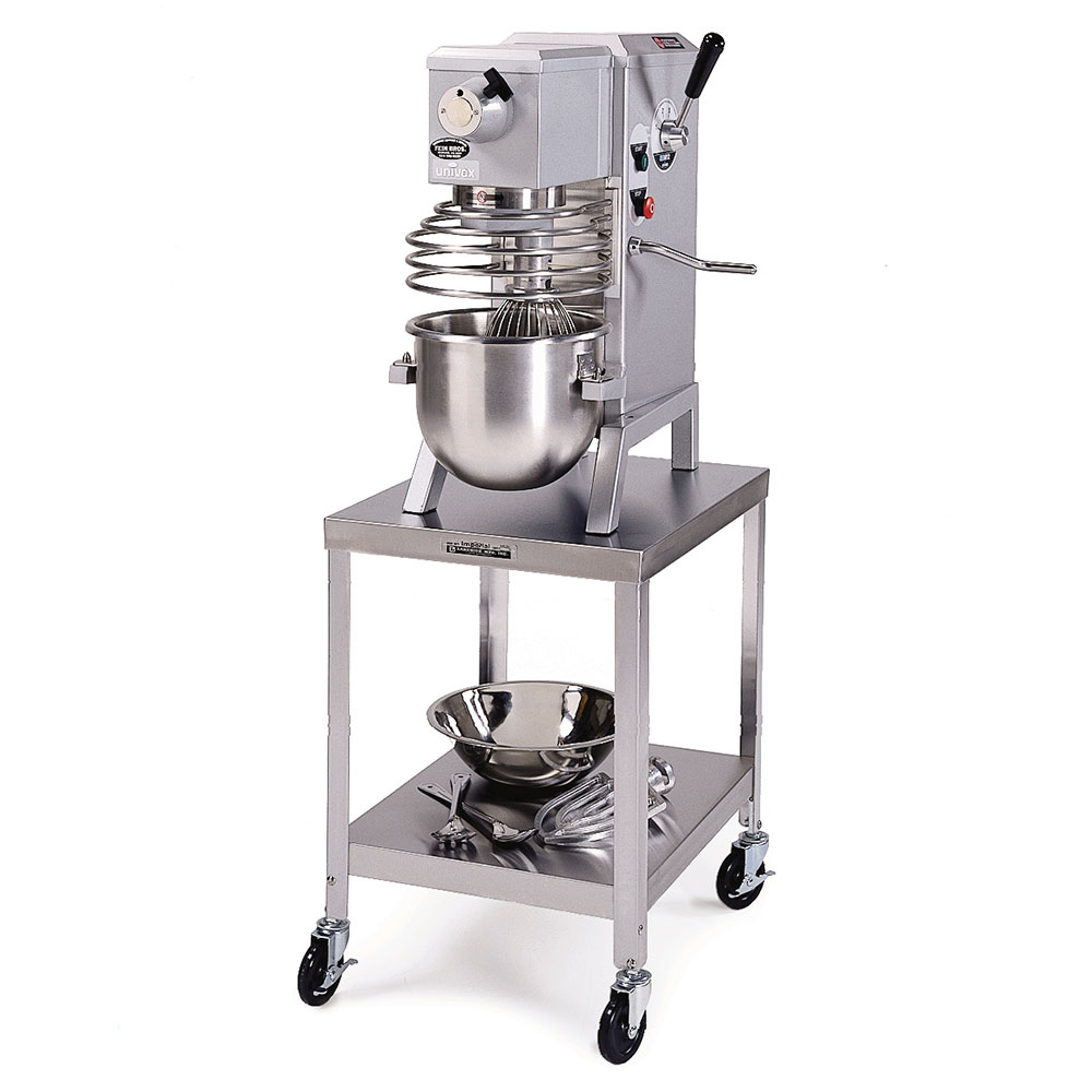 """Lakeside 716 21.25"""" Mixer Table w/ All Stainless Undershelf Base, Mobile, 25.25""""D"""