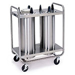 "Lakeside 7207 7.25"" Mobile Dish Dispenser w/ 2-Self-Leveling Tubes, Stainless"