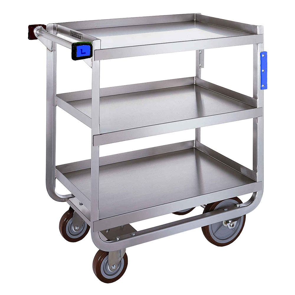 Lakeside 722 3-Level Stainless Utility Cart w/ 700-lb Capacity, Raised Ledges