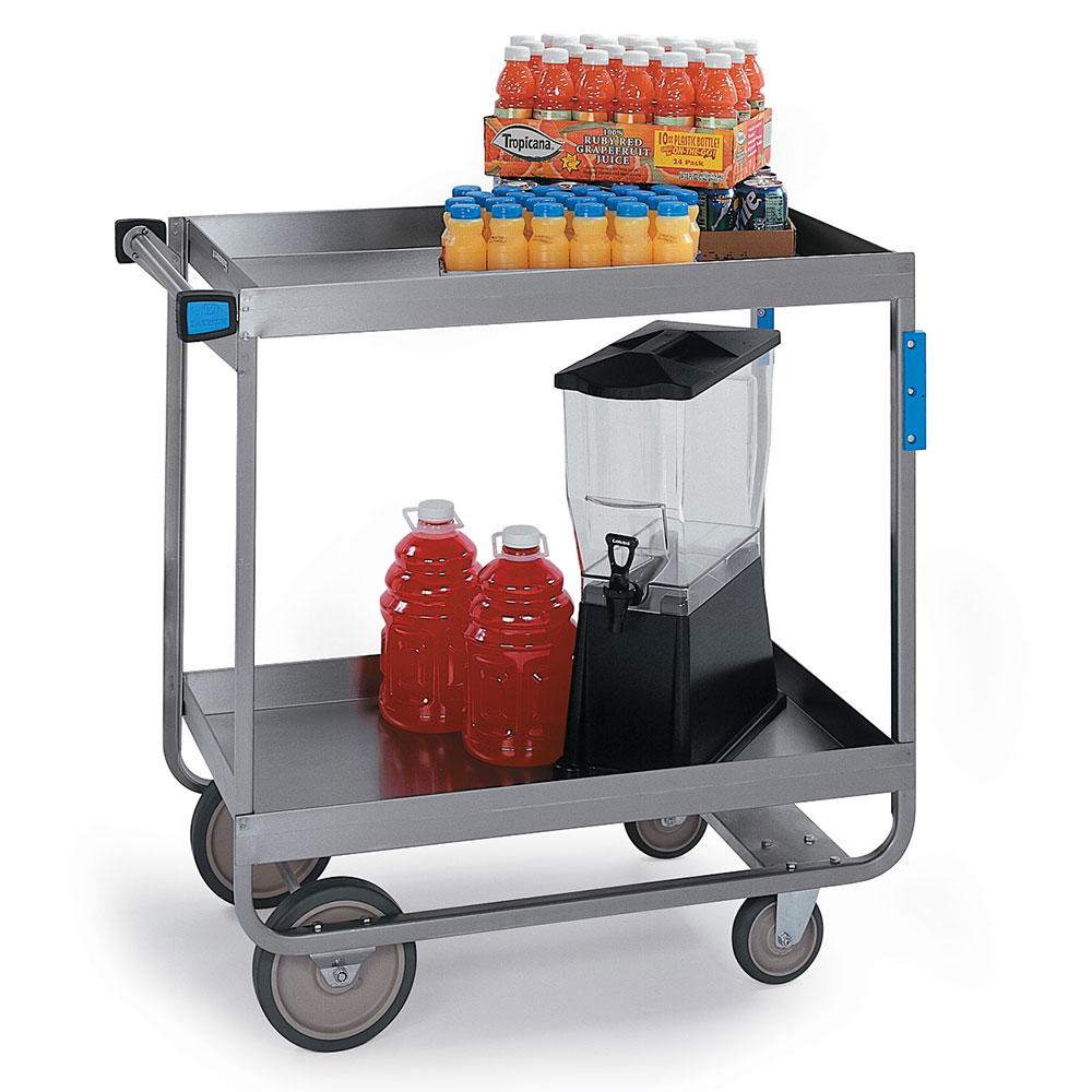 Lakeside 727 2-Level Stainless Utility Cart w/ 700-lb Capacity, Raised Ledges