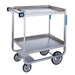 Lakeside 743 2-Level Stainless Utility Cart w/ 700-lb Capacity, Raised Ledges