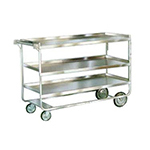 Lakeside 759 3-Level Stainless Utility Cart w/ 700-lb Capacity, Raised Ledges